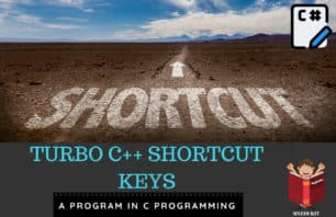 Turbo C++ Shortcut Keys