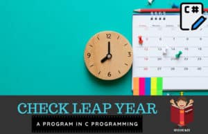 c program to check leap year