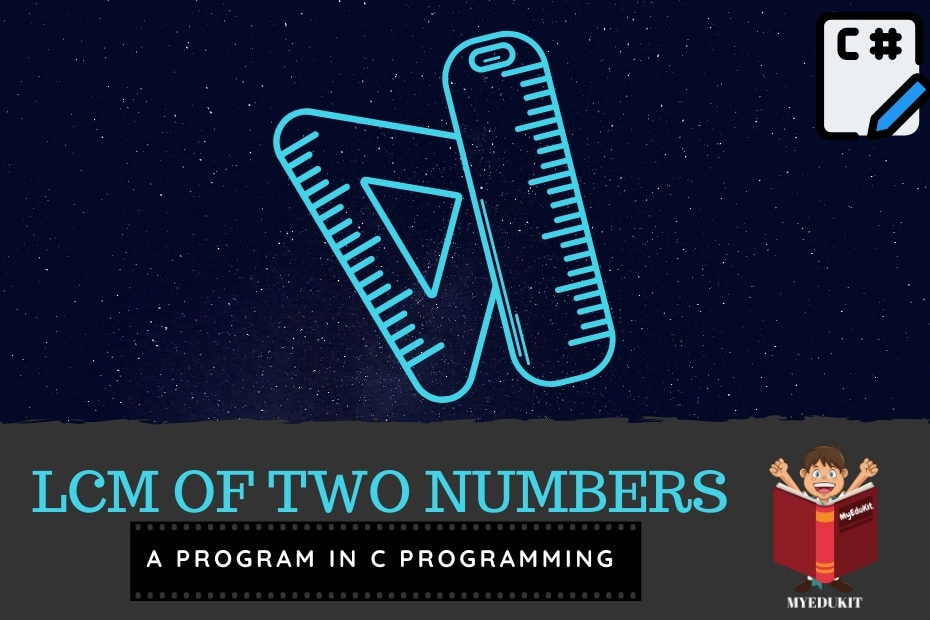 c program to perform lcm of two numbers