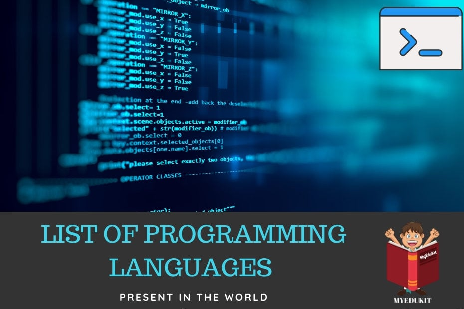 total number of programmng languages in the world