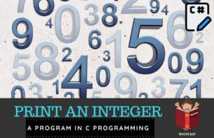 program to print a integer in c